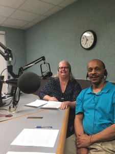David and Karen at Radio Interview